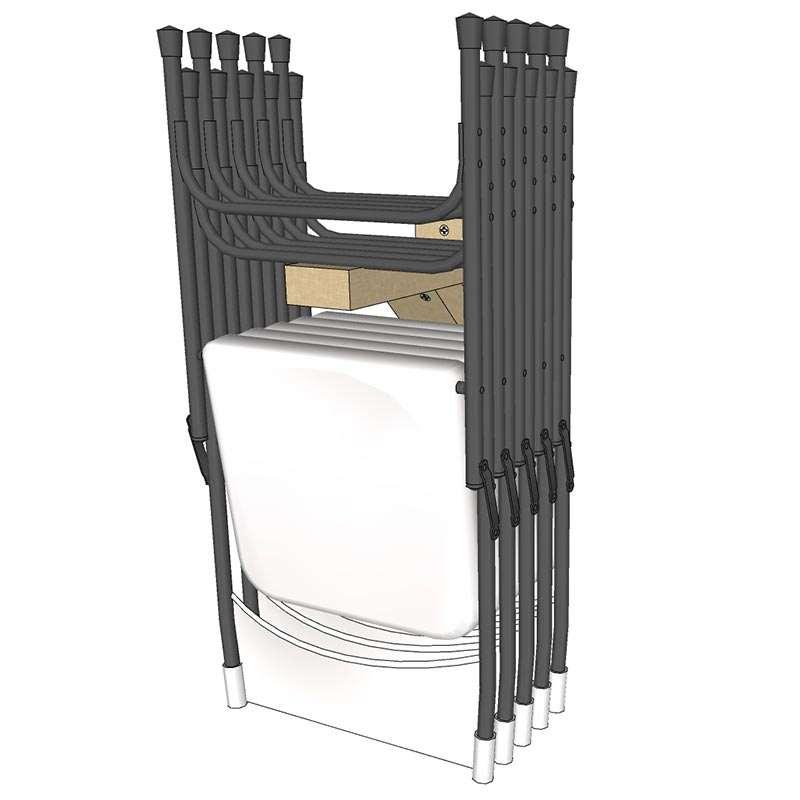 How To Hang Folding Chairs On Wall Open Backyard